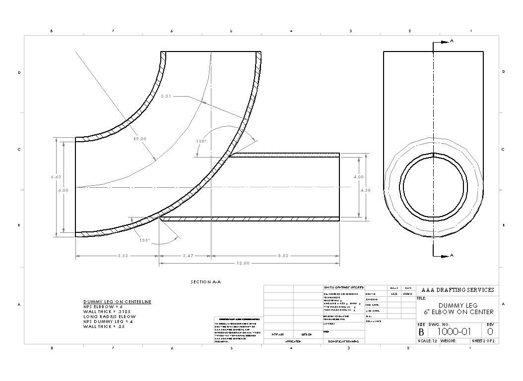 Dummy Leg Drawing Template Piping Line Diagram In The Past Order To Figure Out How Cut A Stanchion Or Support Pipe That Intersected An Elbow Meant You Do Parallel Development